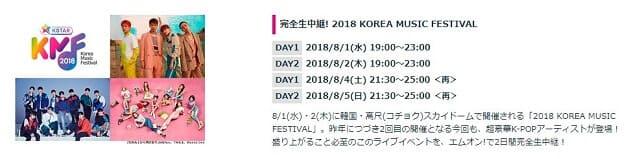 韓流・韓国ドラマ『2018 KOREA MUSIC FESTIVAL』の作品概要