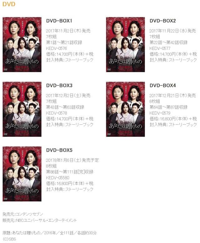 韓流・韓国ドラマ『あなたは贈りもの』のDVD&ブルーレイ発売情報