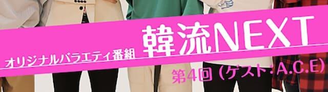 韓流・韓国ドラマ『韓流NEXT 第4回 (ゲスト:ACE)』の作品紹介