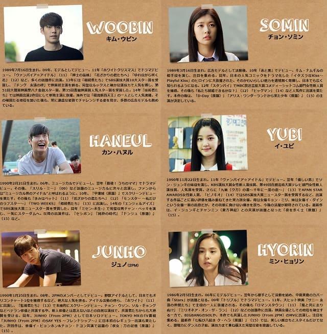 韓流・韓国映画 『二十歳』オリジナルサウンドトラックの出演者(キャスト・スタッフ紹介)