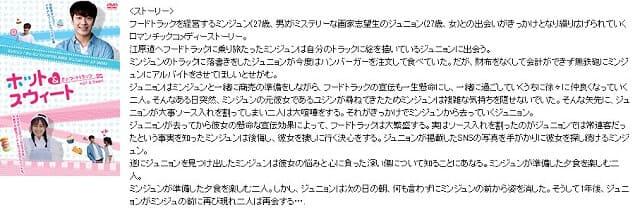 韓流・韓国ドラマ『恋のフードトラック~ホット&スウィート~オリジナルサウンドトラック』の作品概要