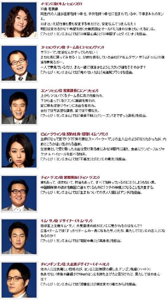 韓流・韓国ドラマ『生意気なヨンエさん シーズン7』の出演者(キャスト・スタッフ紹介)