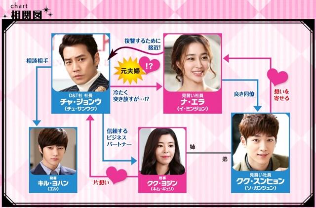 韓流・韓国ドラマ『ずる賢いバツイチの恋』の登場人物の人間関係・相関図・チャート